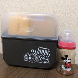 コンビ(combi)の除菌じょーずα&赤ちゃん本舗限定ミッキー母乳実感160ml♡(哺乳ビン用消毒/衛生ケース)