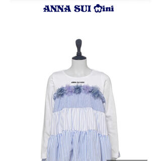 アナスイミニ(ANNA SUI mini)の新品 アナスイミニ  Annasuimini 140  花モチーフ 長袖Tシャツ(Tシャツ/カットソー)