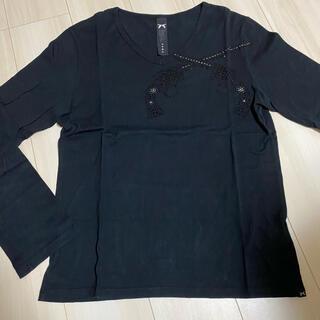 ロアー(roar)の美品!roar ロアー ロンT ブラック(Tシャツ/カットソー(七分/長袖))