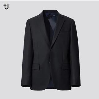ユニクロ(UNIQLO)のユニクロ プラスJ  テーラードジャケット ネイビー M(テーラードジャケット)