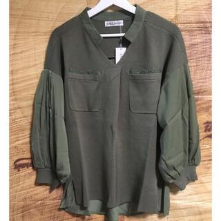 アネラリュクス(ANELALUX)の ANELA LUXバルーン袖異素材プルオーバー(ニット/セーター)