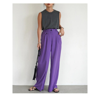 moussy - flugge fruits color pants パンツ パープル