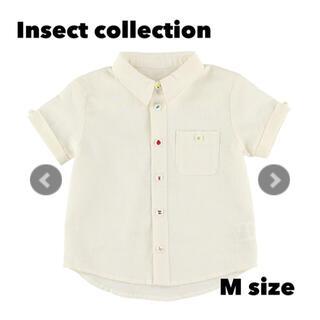 インセクトコレクション昆虫ボタン勢揃いリネンシャツ Mサイズ
