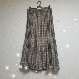 イェッカヴェッカ(YECCA VECCA)のチェック柄プリーツロングスカート(ロングスカート)