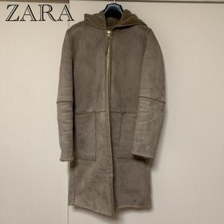 ザラ(ZARA)のZARA ムートンコート XS(ロングコート)