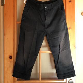 GU - ジーユー GU メンズ M ハーフパンツ 綿パンツ ワークパンツ 黒 ブラック