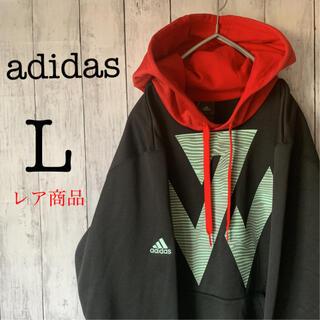 adidas - 【レア】古着 90s アディダス トップス パーカー ビックロゴ バックプリント