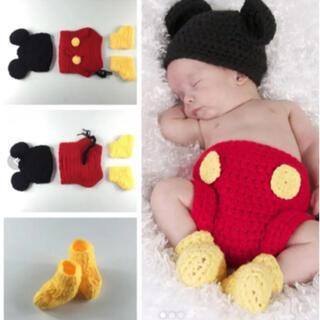 Disney - ニューボーンフォト ミッキー コスチューム ベビーコスプレ ディズニー 赤ちゃん