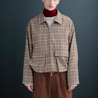 サンシー(SUNSEA)のEMMA CLOTHES ショートチェックブルゾン (ブルゾン)