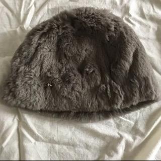 アパルトモンドゥーズィエムクラス(L'Appartement DEUXIEME CLASSE)のミュールバウワー ボンネット 帽子 ラビット レッキス ファー(ニット帽/ビーニー)