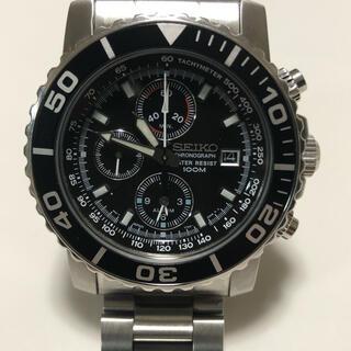 セイコー(SEIKO)の【美】SEIKO 腕時計 逆輸入 海外モデル ブラック SNA225PC メンズ(腕時計(アナログ))