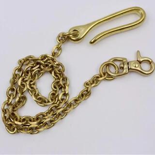 ウォレットチェーン 鎖 真鍮 ルード アメカジ ストリート 新品 未使用(ウォレットチェーン)