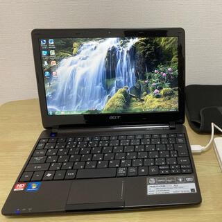 エイサー(Acer)の11.6インチ ノートパソコン acer ASPIRE one(ノートPC)