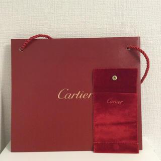 カルティエ(Cartier)のショップ袋とベロア系ケース(ショップ袋)