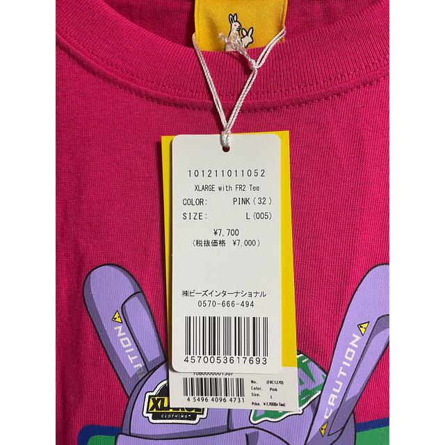 XLARGE(エクストララージ)のXLARGE collaboration with FR2 TeeサイズLピンク メンズのトップス(Tシャツ/カットソー(半袖/袖なし))の商品写真