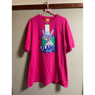XLARGE - XLARGE collaboration with FR2 TeeサイズLピンク