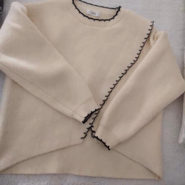 スカラップニット レディースのトップス(ニット/セーター)の商品写真