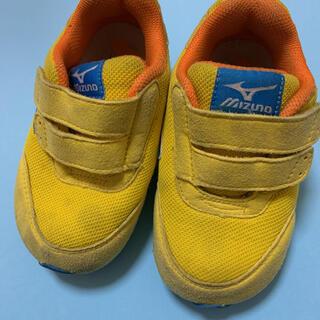ミズノ(MIZUNO)のミズノ キッズ スニーカー 靴 14.5 イエロー(スニーカー)