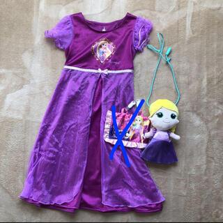 ディズニー(Disney)のラプンツェル まとめ売り ドレス 95 ポシェット あり(ドレス/フォーマル)