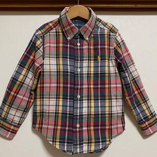 ラルフローレン(Ralph Lauren)のラルフローレン 110 シャツ チェックシャツ トップス 長袖シャツ(ブラウス)