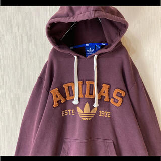 アディダス(adidas)のadidas アディダス パーカー フーディ 立体ロゴ でかロゴ トレフォイル(パーカー)