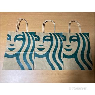 スターバックスコーヒー(Starbucks Coffee)のスタバ★スターバックス★ショップ袋★3枚セット★ショッパー★紙袋(ショップ袋)