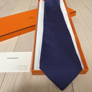 Hermes - エルメス ネクタイ ネイビー