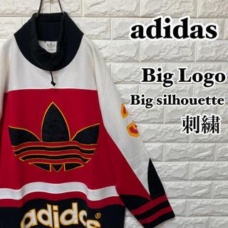 アディダス(adidas)の【adidas】刺繍ビッグロゴ ビッグサイズ 日本製(スウェット)