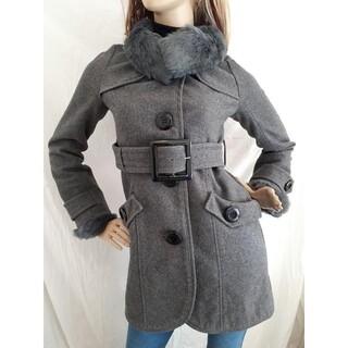 スパイラルガール(SPIRAL GIRL)のスパイラルガール コート ファー チャコール グレー(ロングコート)