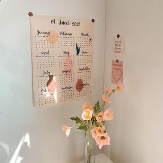 ファブリックカレンダー 韓国 インテリア 北欧 雑貨 カレンダー 布 (絵画/タペストリー)