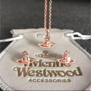 ヴィヴィアンウエストウッド(Vivienne Westwood)の新品 ネックレスピアスセット ピンクゴールド(ネックレス)
