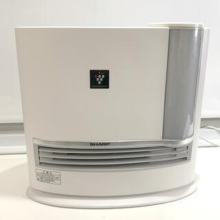 SHARP - シャープ  加湿機能付セラミックファンヒーター ホワイト HX-H120超美品