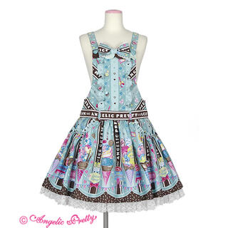 Angelic Pretty - Ice Cream Parlor サロペット&バレッタset