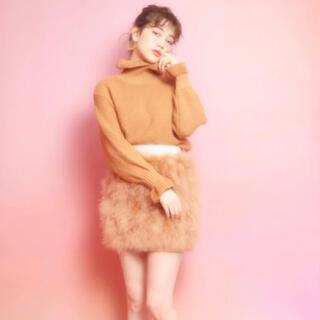 リルリリー(lilLilly)の新品タグ付き♡lilLilly フェザーファースカート(ミニスカート)