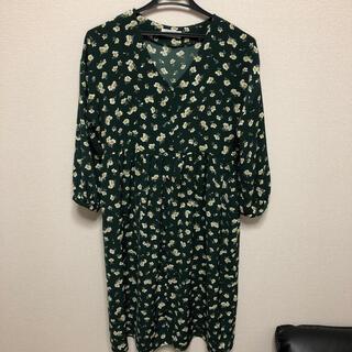 Techichi - テチチ ワンピース 緑 花柄