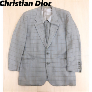 Christian Dior - 90s Christian Dior チェック柄 シルク テーラードジャケット