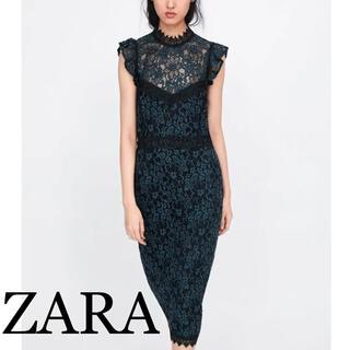 ザラ(ZARA)のZARA レースワンピース/ドレス(ひざ丈ワンピース)