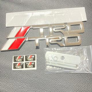 トヨタ - TRD 3D エンブレム フロント リア セット ミニ ステッカー サイド ロゴ