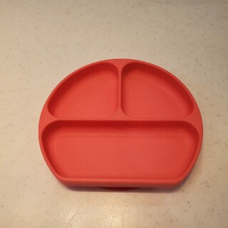 バンキンス 吸盤付き シリコンディッシュ レッド(離乳食器セット)