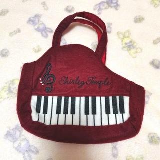 シャーリーテンプル(Shirley Temple)の134【未使用】シャーリーテンプル ピアノバッグ 赤 アカ(ポシェット)