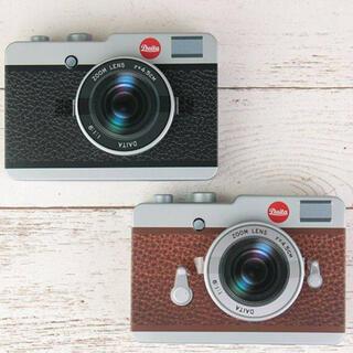 カルディ(KALDI)のカルディ カメラ缶 チョコレート カメラチョコ  2つセット 黒と茶 (菓子/デザート)