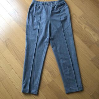 ザラ(ZARA)の未使用 美品 ZARA ザラ センタープレス パンツ フラックスパンツ グレー(クロップドパンツ)