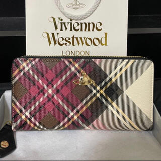 Vivienne Westwood - ヴィヴィアン 長財布 Vivienne Westwood チェック柄ビビアン財布