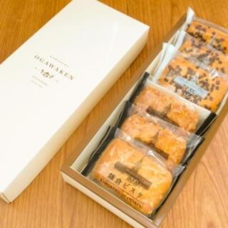 小川軒 鎌倉ビスケ 12枚入り(アーモンド6枚、カカオニブ6枚) (菓子/デザート)