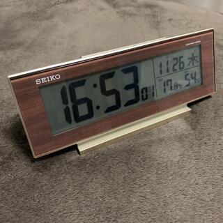 セイコー(SEIKO)のSEIKO 目覚まし機能付き電波時計(置時計)