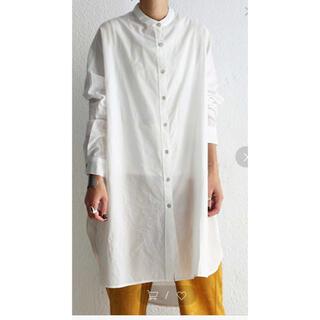 antiqua - antiqua スタンドカラーシャツ ホワイト