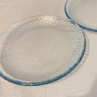 ノリタケ(Noritake)のブルー透明皿平皿(食器)