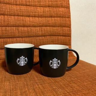 Starbucks Coffee - 2個セット オンラインストア限定 スタバマグカップ ロゴマグブラック