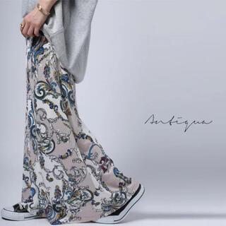 アンティカ(antiqua)のantiqua /pattern torso   ペイズリー柄Aラインスカート (ロングスカート)