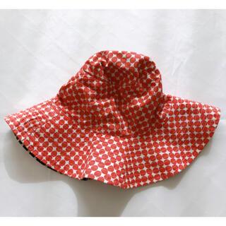 プチバトー(PETIT BATEAU)のプチバトー リバーシブルハット ドット(帽子)
